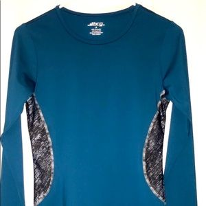 BCG Blue Dry Fit Exercise Top w/ Black&Grey Sides